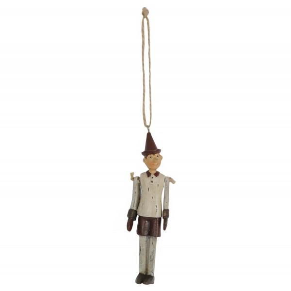 Pinocchio dunkelgrau zum Hängen