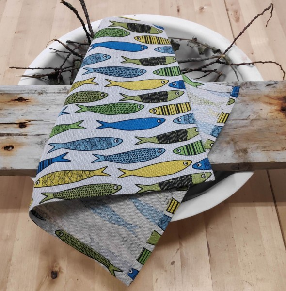 Platzdeckchen Fische gelb-grün