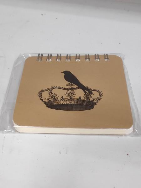 Abreißblock Vogel mit Krone