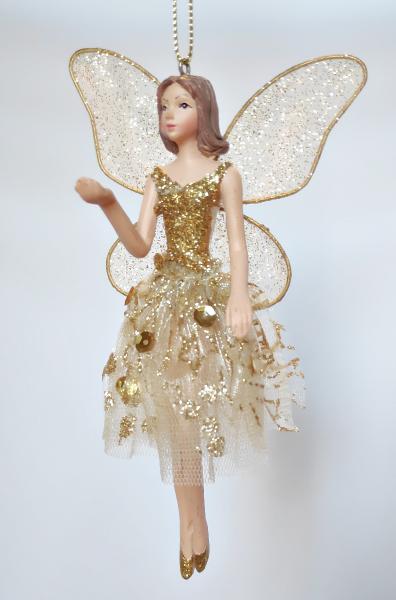 tanzender Engel in goldenem Kleid - Tänzerin A