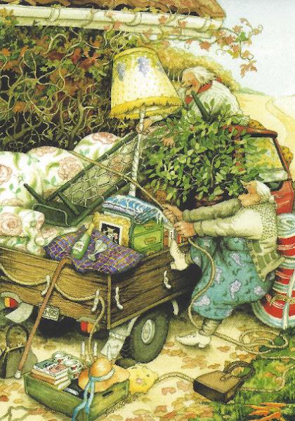 Postkarte - Wir machen Picknick