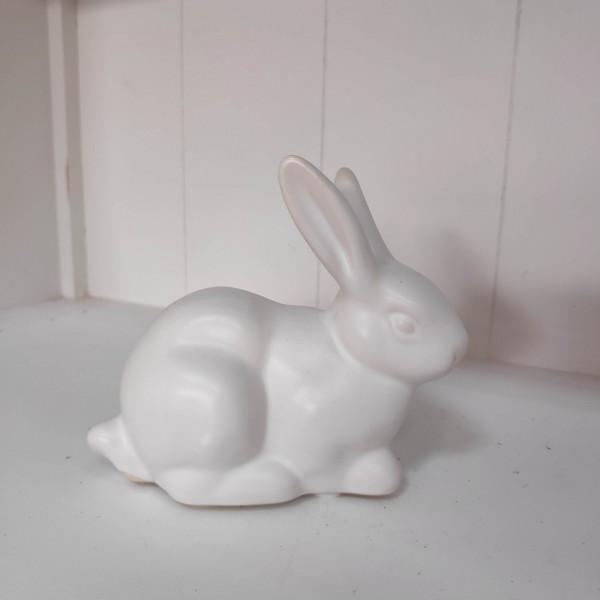 Keramik Hase weiß