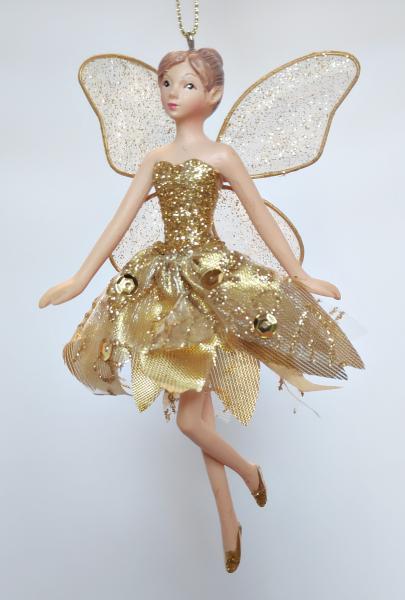 tanzender Engel in goldenem Kleid - Tänzerin B