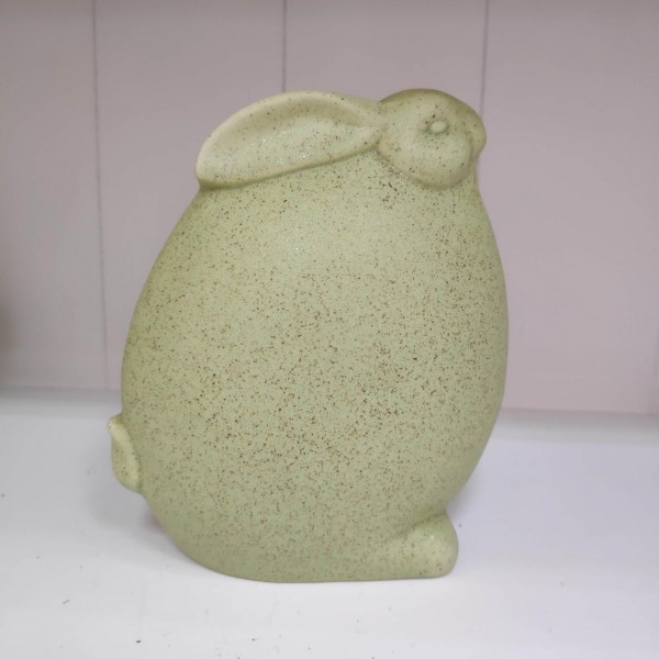 Keramik Hase grün stehend