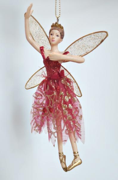 tanzender Engel in rotem Kleid - Tänzerin A