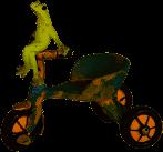 Dekoration - Frosch mit Dreirad