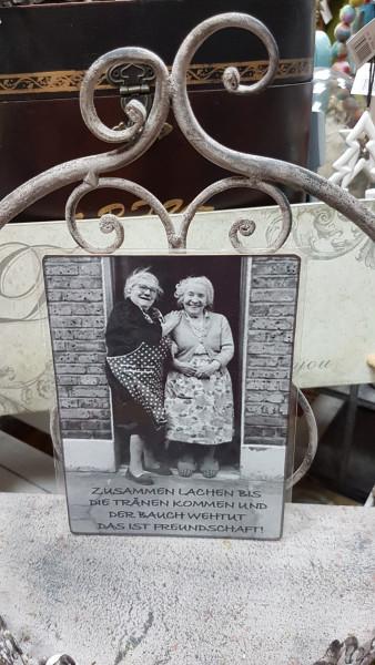 """Vintage-Dekobrettchen """"Zwei Frauen"""""""