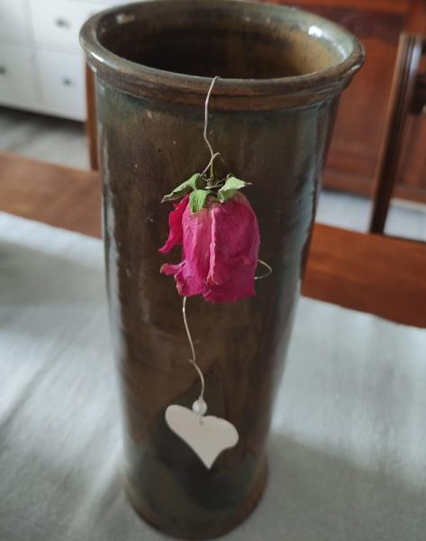 romantische Rosenhänger natur
