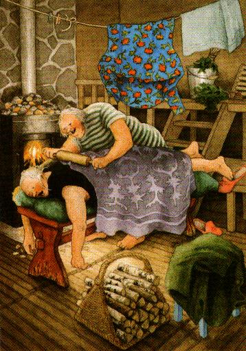 Postkarte - Massage
