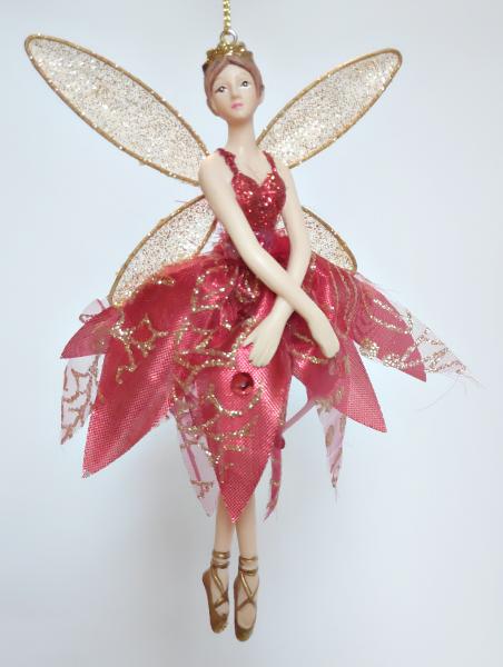 tanzender Engel in rotem Kleid - Tänzerin B