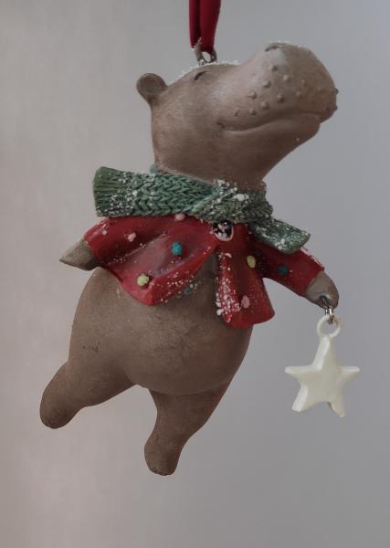 Hippo mit Stern - Dekofigur