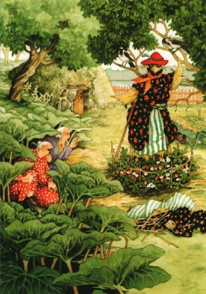 Postkarte - Gartenmode