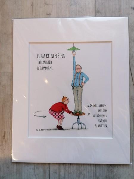 Bild im Passepartout